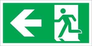 Menekülési út balra (ISO)