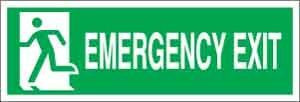 Emergency exit (felirat + piktogram
