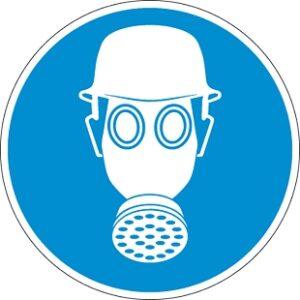 Fejvédő és légzésvédő használata kötelező!