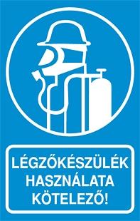Légzőkészülék használata kötelező!