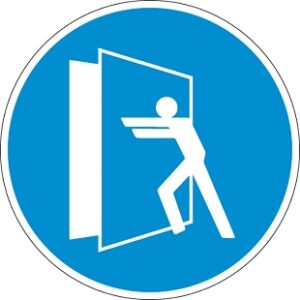 Az ajtó zárva tartandó!