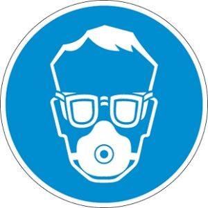 Porvédő maszk és védőszemüveg használata kötelező!