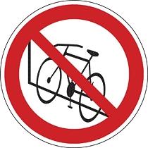 Kerékpárt a falhoz támasztani tilos!