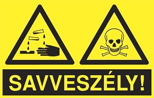 Savveszély! (2 piktogram)
