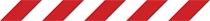 Veszélyt jelző csík (vörös/fehér)